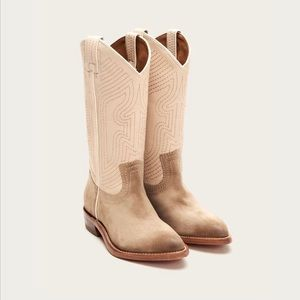 Frye Leather Welted Boot Billy Stitch Tan NIB